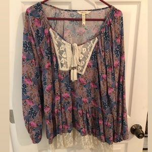 Women's Long Sleeve Flowy Matilda Jane Top
